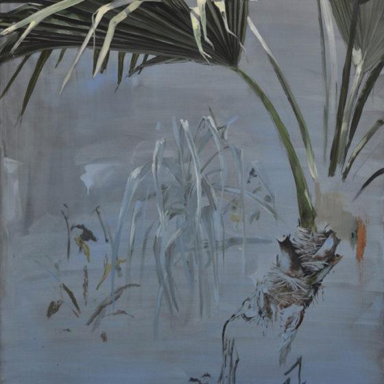 garden proposal nr. 4, palmea, olieverf op linnen, 130 x 170 cm, 2016