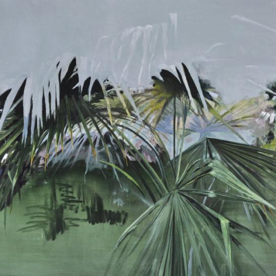 garden proposal nr. 9, plamea, olieverf op linnen, 120 x 150 cm, 2016