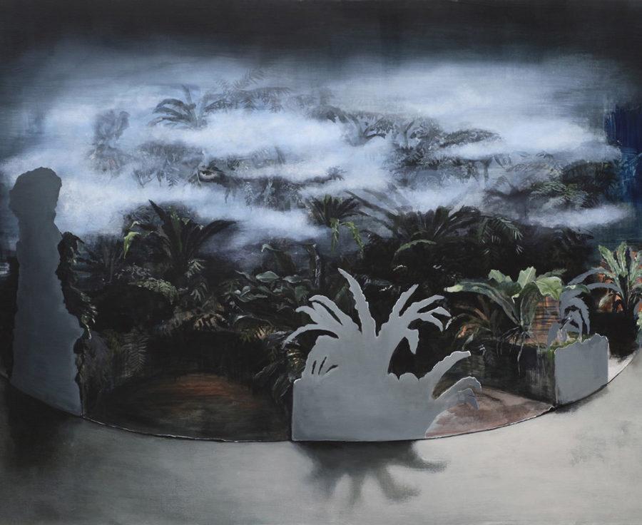 garden proposal nr. 2 fernwood, acrylverf op linnen, 140 x 190 cm, 2016