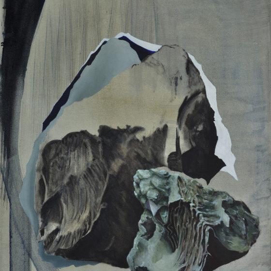 loud landscapes, silent surfaces, oil on canvas, 90 x 70 cm, 2017