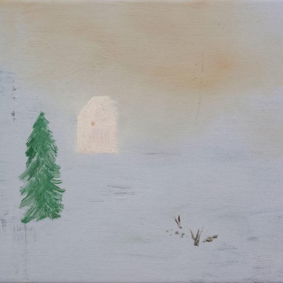 White stable, 2020, olieverf op doek, 30 x 35 cm