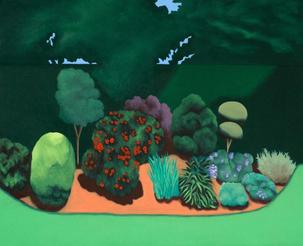 Le Jardin, 65 x 80 cm, oil, 2020