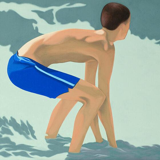 Beachboy, 50 x 40 cm, oil, 2021