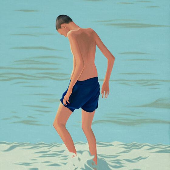 Beachboy, 50 x 60 cm, oil, 2021