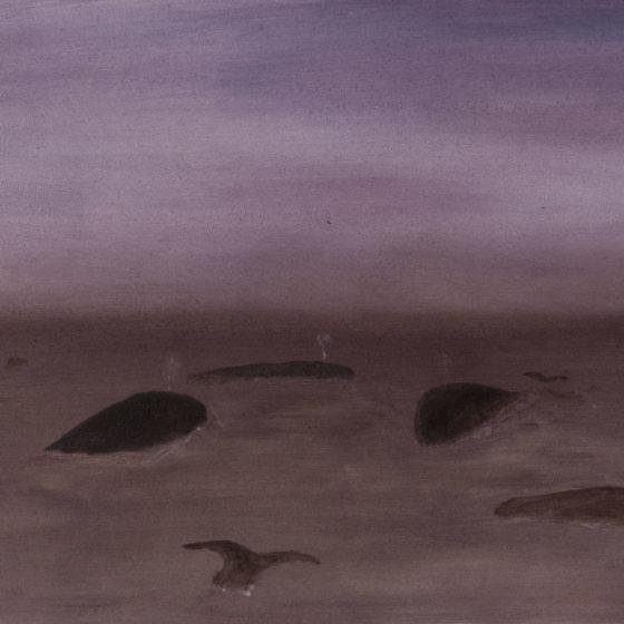 whales, 2020, olieverf op doek, 45 x 65 cm