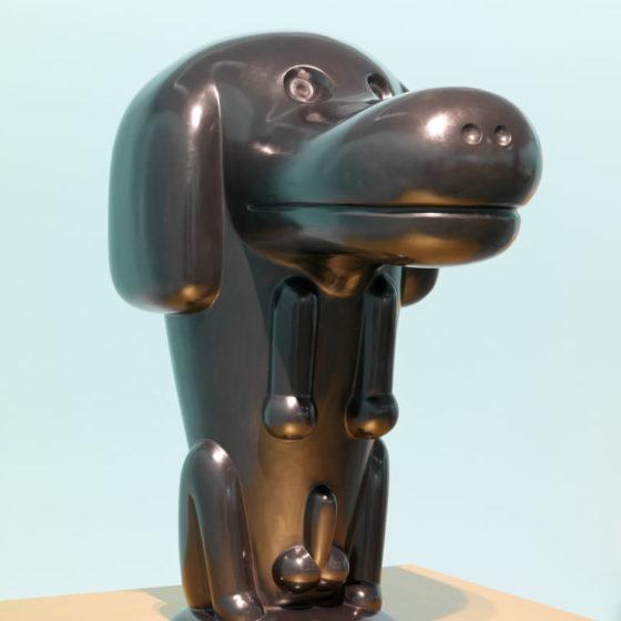 Egyptische hond, 2015, brons, 80 x 65 x 43 cm.