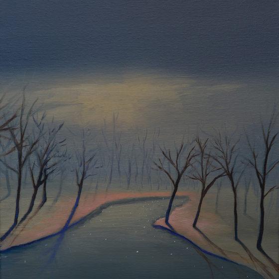 wintermusik, olieverf op doek, 50 x 40 cm., 2017