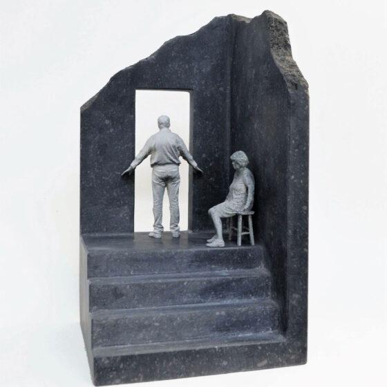 Room with a view, belgisch hardsteen, polyamide, 35 x 19 x 19 cm, 2021