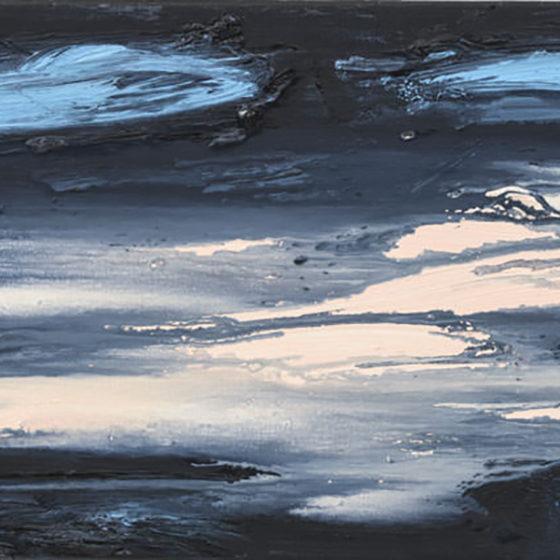 Por do Sol l, 30 x 50 cm, olieverf op linnen, 2018