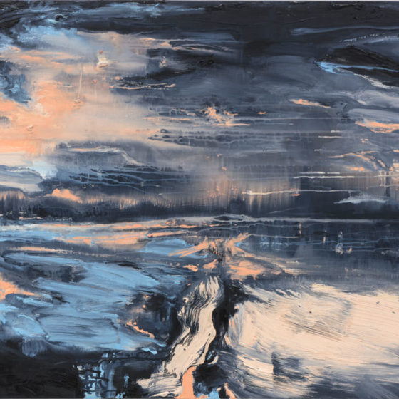 Road to Nowhere, 100 x 140 cm, olieverf op linnen, 2018