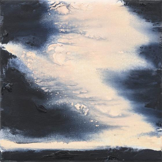 Sun Down V, 20 x 20 cm, olieverf op linnen, 2018