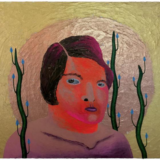 anne, acrylic on canvas panel, 50 x 60 cm, 2017