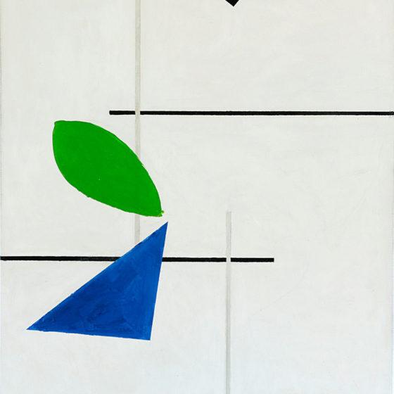 l.b.e.d. olieverf op doek, 80 x 70 cm, 2019