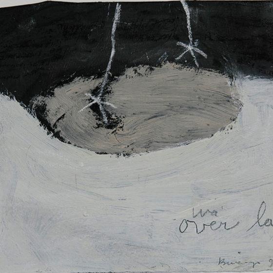 over lan, gemengde techniek op papier, 15,5 x 17 cm, 1998