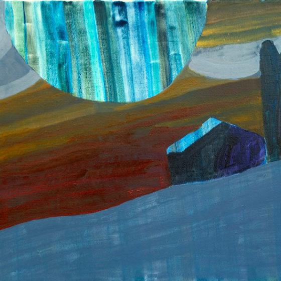 maan o maan, olieverf op linnen, 75 x 85 cm, 2018