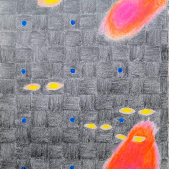 schijnbewegingen, 2019 aquarel, potlood, marker op papier 14,5 x 10,5 cm