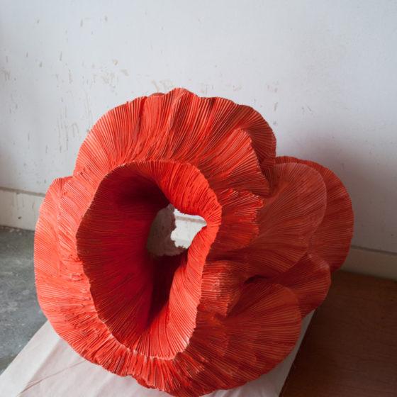 orange object, 2016, kunsthars / olieverf