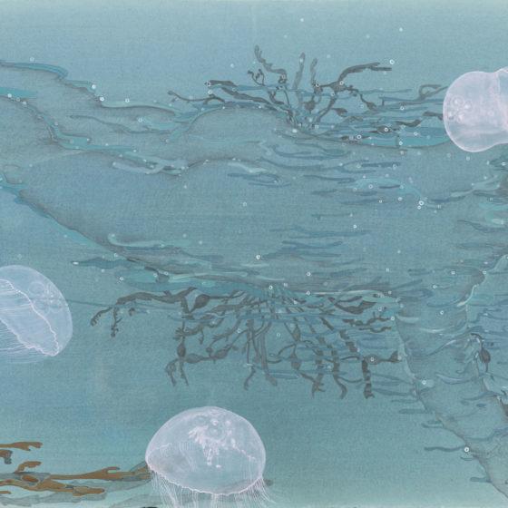 heel al (3), 67 x 102 cm. gouache en potlood op papier, 2018