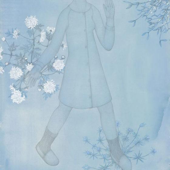 leaving, 2018, 152 x 102 cm., gouache en potlood op papier