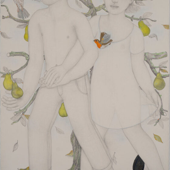 Z.T., potlood en gouache op papier, 103 x 67 cm, 2020