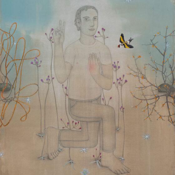 Z.T., gouache en potlood op papier, 153 x 102 cm, 2020