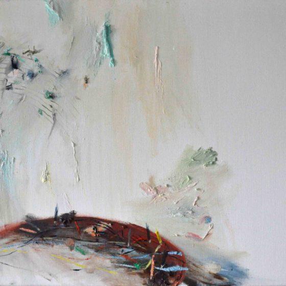 compositie ars oratium, 70 x 50, olieverf op doek, 2017