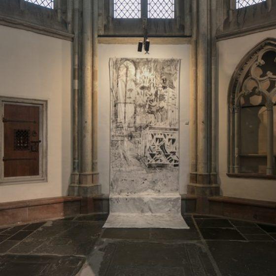 Organ, 300 x 160 cm, Inkt op katoen, 2020