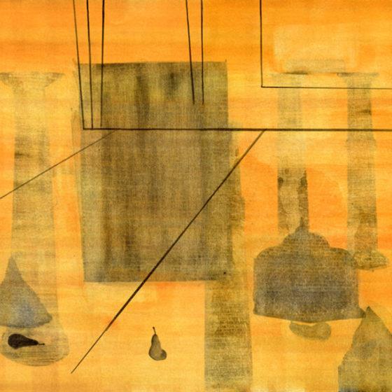 zonder titel, aquarelverf, gouache/papier, 2015, 30 x 40 cm
