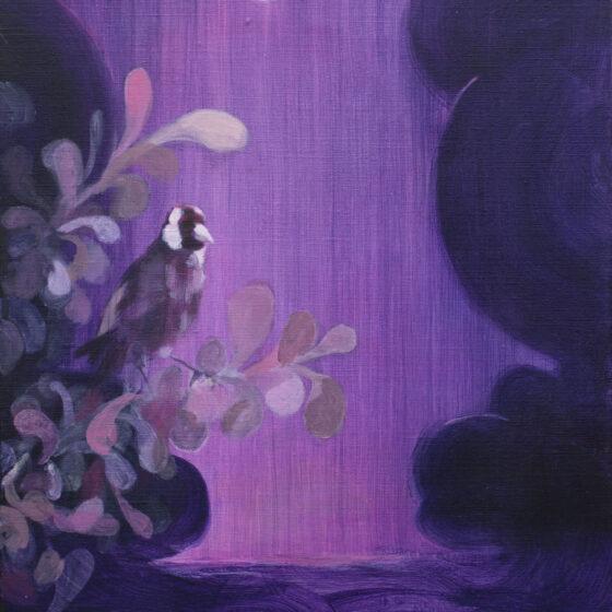 At night, acryl op linnen, 40 x 50 cm, 2020
