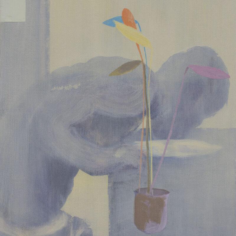 Colored Leaves, acryl op linnen, 40 x 50 cm, 2021