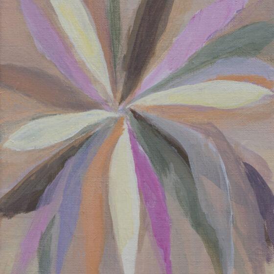 Crazy Flower, acryl op linnen, 18 x 24 cm, 2021