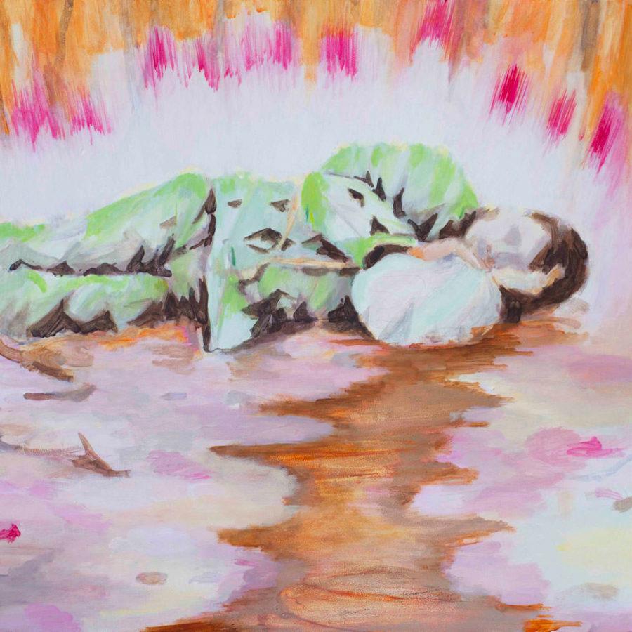 dreamstone, 44 x 45 cm, acryl op paneel, 2018