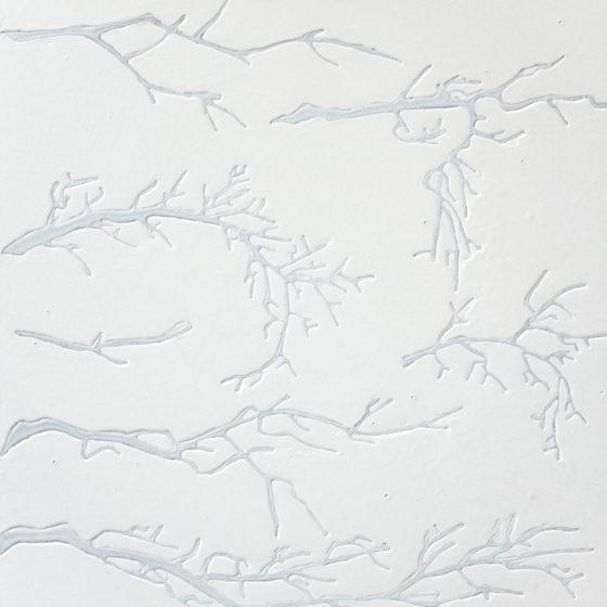 diffusion, acryl op mdf, 54 x 48 cm, 2018