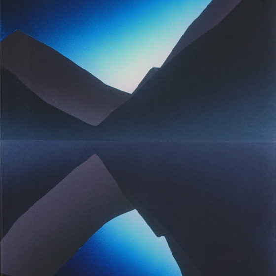 landschap, acryl, epoxy op mdf, 50 x 30 cm, 2018