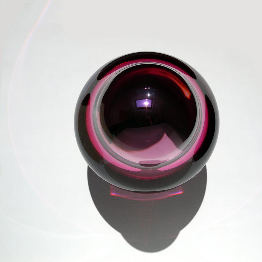 Glass Aurora (afb. 2), Ø 23 cm, h. 33 cm, Mondgeblazen glas, verzilverd, 2017