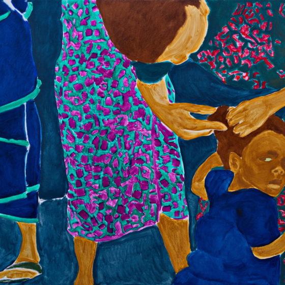 Z.t., Olieverf op doek 200 x 140 cm
