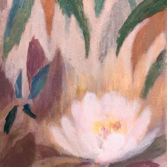 Ode aan Monet, 18 x 13 cm, Acryl op linnen, 2020