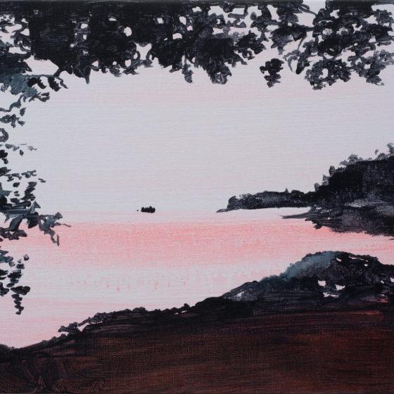 Frenchman Bay, 2016, aryl op linnen, 31 x 41 cm