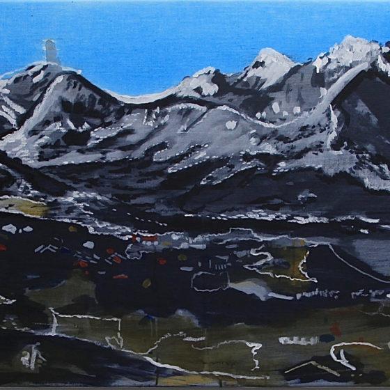 Sketch Tasiilaq, 60 x 100 cm
