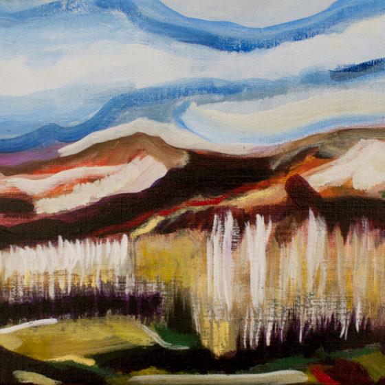 Winterlandschap in Aragon, 24 x 38, 2017