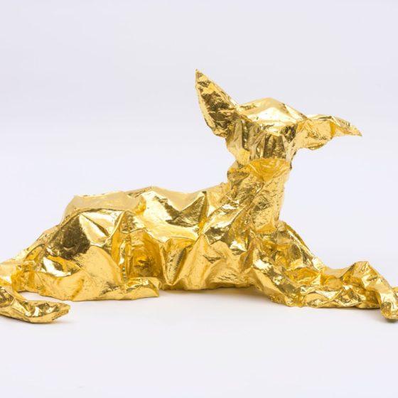 El Dorado, 2018, bladgoud op brons, 41 x 80 x 33 cm