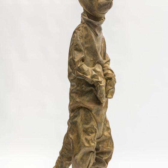 Moonwalker, 2017, brons, 124 x 38 x 58 cm