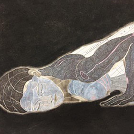 Amae 96, Tekening 36 x 56 cm, Lijst zwart 40 x 60 cm, 2017