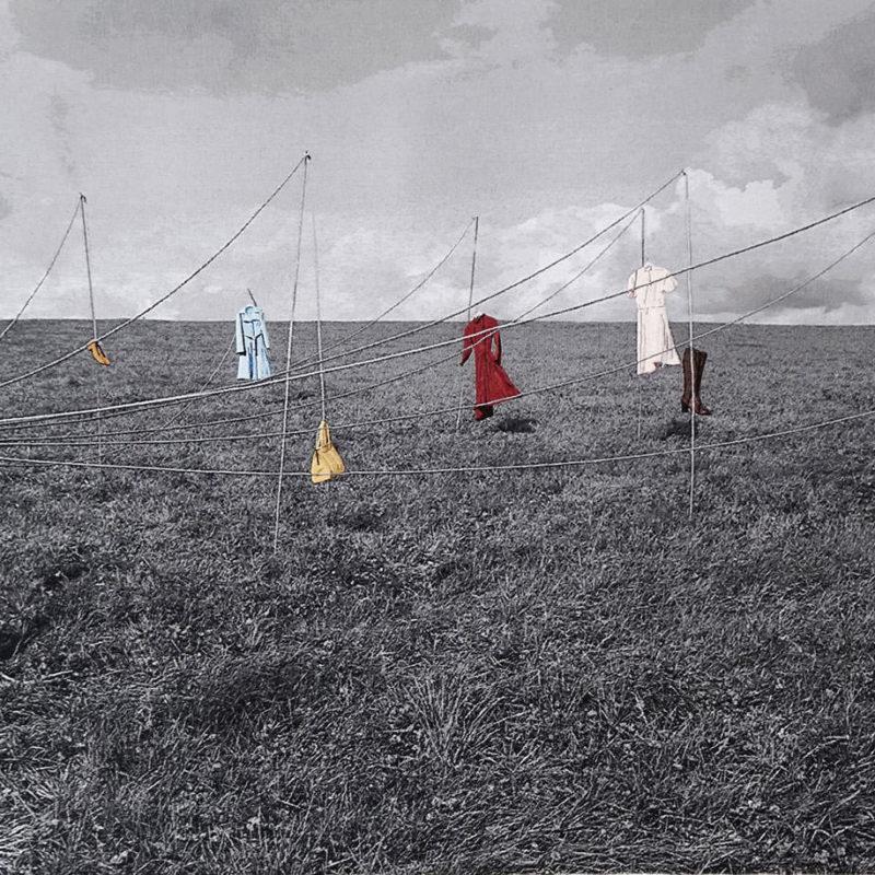 La danse des robes, 98 x 202 cm, gobelin en handgeborduurd, 2020