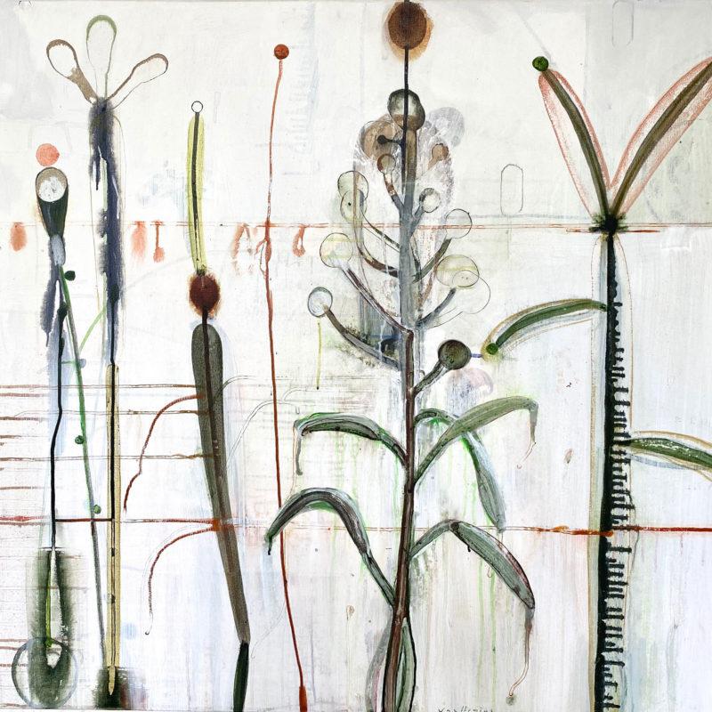 acryl op doek, Z.T., 100 x 110 cm, 2020