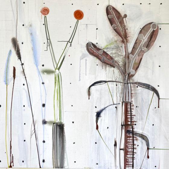 acryl op doek, Z.T., 140 x 150 cm, 2020