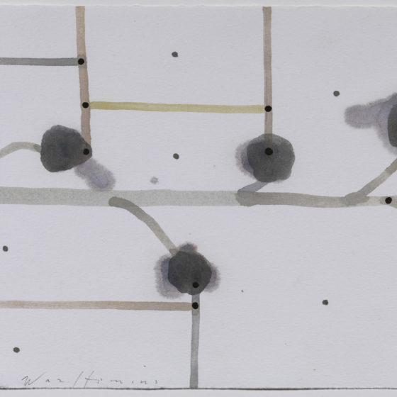 acryl op papier, Z.T., 50 x 65 cm, 2019