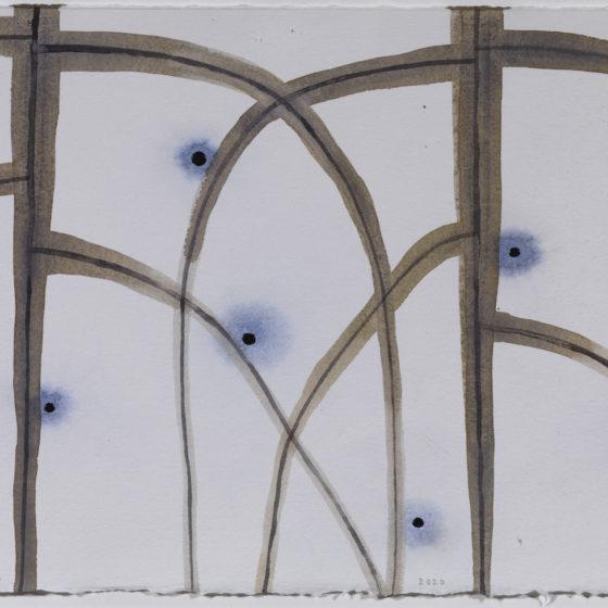 acryl op papier, Z.T., 50 x 65 cm, 2020
