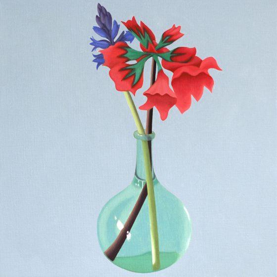bloemen, 40 x 40, oil, 2020