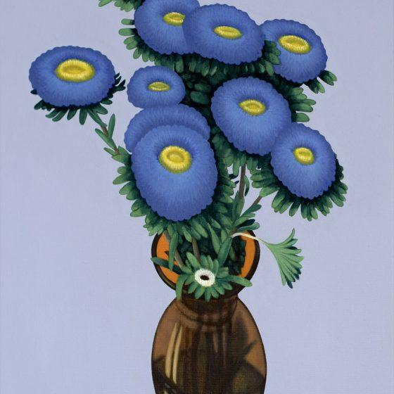 bloemen, 40 x 50, oil, 2020